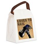 Loves To Nail -- A Blakk Frogg Original Canvas Lun