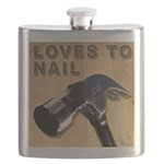 Loves To Nail -- A Blakk Frogg Original Flask