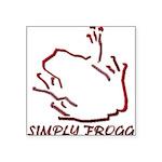 Blakk Frogg -- Simply Frogg Bottom Wording Square
