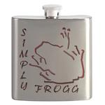 Blakk Frogg -- Simply Frogg L Wording Flask