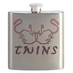 Blakk Frogg -- Twins Licking Outward Flask