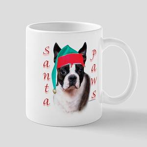 Santa Paws Boston Terrier Mug