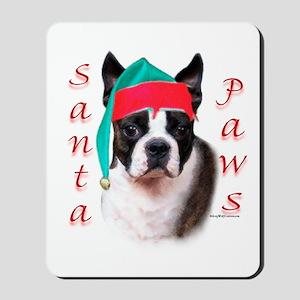 Santa Paws Boston Terrier Mousepad