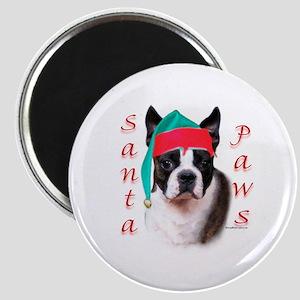 Santa Paws Boston Terrier Magnet
