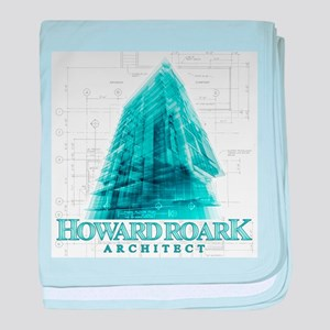 Howard Roark Architect baby blanket