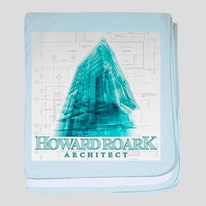 Howard Roark Architect baby blanket