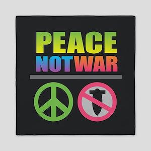 Peace Not War Rainbow Queen Duvet