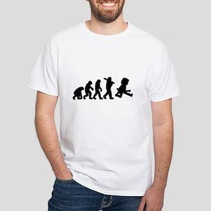 Evolution of Rock White T-Shirt