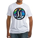 Rainbow Penguin Fitted T-Shirt