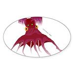 Vampire Squid (Octopus) Sticker (Oval 50 pk)