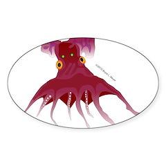 Vampire Squid (Octopus) Sticker (Oval 10 pk)