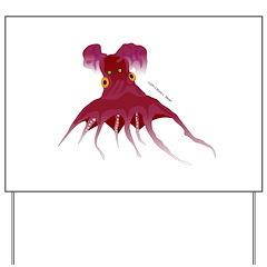 Vampire Squid (Octopus) Yard Sign
