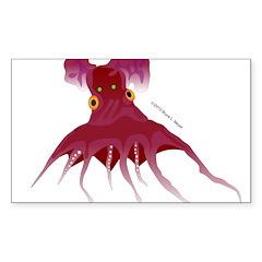 Vampire Squid (Octopus) Sticker (Rectangle)