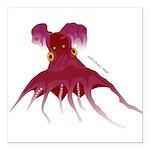 Vampire Squid (Octopus) Square Car Magnet 3