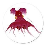 Vampire Squid (Octopus) Round Car Magnet