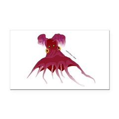 Vampire Squid (Octopus) Rectangle Car Magnet