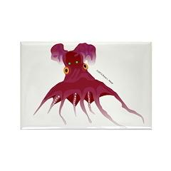 Vampire Squid (Octopus) Rectangle Magnet
