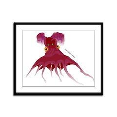Vampire Squid (Octopus) Framed Panel Print