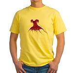 Vampire Squid (Octopus) Yellow T-Shirt