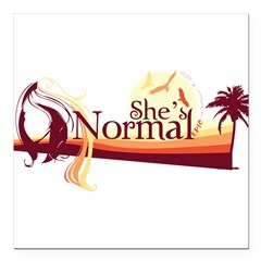 Shes-Normal Square Car Magnet 3