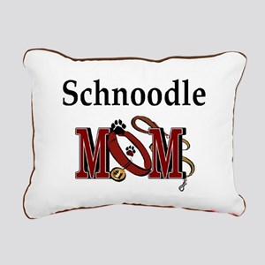 Schnoodle Mom Rectangular Canvas Pillow