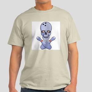 Bowling Skull Ash Grey T-Shirt