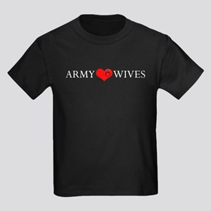 Army Wives Heart and Ring Kids Dark T-Shirt