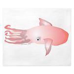 Flying Squid (Lilys Deep Sea Creatures) King Duvet