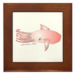 Flying Squid (Lilys Deep Sea Creatures) Framed Til