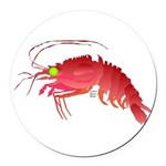 Deep Sea Red Shrimp Round Car Magnet