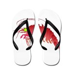 Deep Sea Red Shrimp Flip Flops