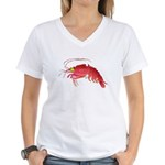 Deep Sea Red Shrimp Women's V-Neck T-Shirt