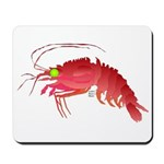 Deep Sea Red Shrimp Mousepad