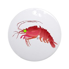 Deep Sea Red Shrimp Ornament (Round)