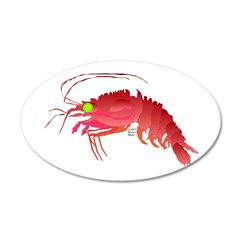Deep Sea Red Shrimp Wall Decal