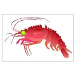 Deep Sea Red Shrimp Large Poster