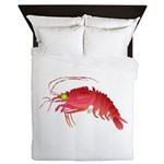 Deep Sea Red Shrimp Queen Duvet