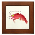 Deep Sea Red Shrimp Framed Tile