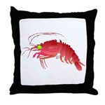 Deep Sea Red Shrimp Throw Pillow