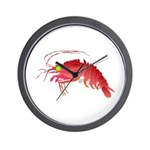 Deep Sea Red Shrimp Wall Clock
