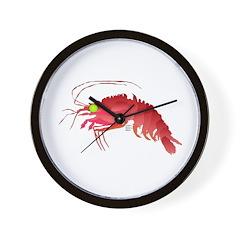 Deep Sea Red Shrimp Wall Clock