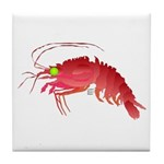 Deep Sea Red Shrimp Tile Coaster