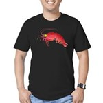 Deep Sea Red Shrimp Men's Fitted T-Shirt (dark)