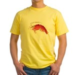 Deep Sea Red Shrimp Yellow T-Shirt