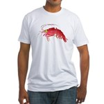 Deep Sea Red Shrimp Fitted T-Shirt