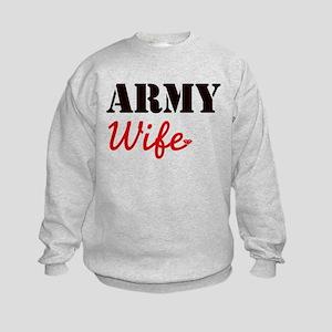 Cute Army Wife Kids Sweatshirt