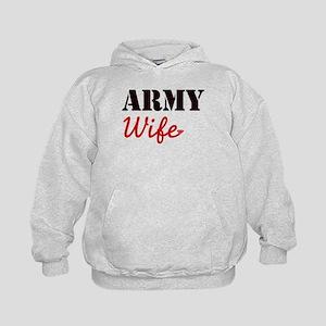Cute Army Wife Kids Hoodie