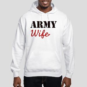Cute Army Wife Hooded Sweatshirt