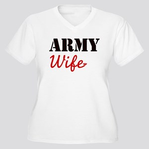Cute Army Wife Women's Plus Size V-Neck T-Shirt