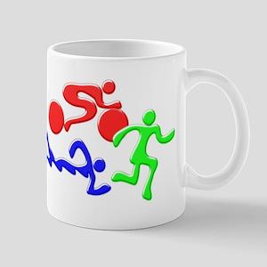 Triathlon Color Figures 3D Mug